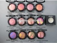 (8pcs/lot ) New makeup brand 12 colors makeup mineralize blush 3.5g Free shipping