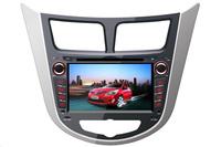 HY VERNA/ACCENT 2011-Touchscreen DVD GPS Navigation Radio Bluetooth Steering Wheel Control SD Card Slot/USB Rear Camara with Map