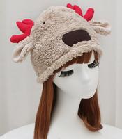 New Arrival Winter Women Hat Christmas Deer Soft Warm Berets KB039