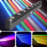 LED eight head beam light eight to 10w led rotating lamp Shake head to dye light beam of light bar ted eight eyes