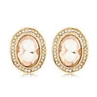 2014 fashion jewelry for women Korean fashion boutique ladies temperament metal flash gem earrings/ear buckle/jewelry earings