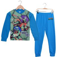 Teenage Mutant Ninja Turtles Boy's Pajamas Long Sleeve Movie Costume Pijamas Kids Set Cartoon Dragon Children's Sleepwear PS090