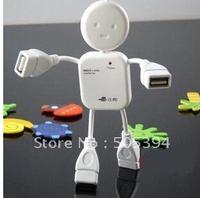 100pcs/lot Free shipping HI-SPEED USB 1.1 4 port USB HUB Doll shape usb hub