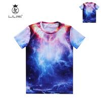 [Magic] freeshipping at sea Storm Lightning men 3d t shirt good quality casual t-shirt cotton T-shirt print tshirts LY233