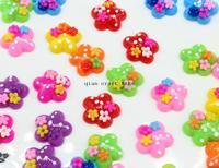 50% off 300pcs Mixed Color kawaii Flower Resin Cabochon 19mm Flatback decoden sunflowers charm pendants kids jewelry diy