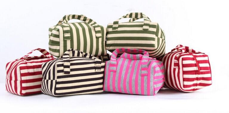 Bolsas femininas 2015 stripe Original American Brand Built Lunch Bag & Make Up Bag Bolsa termica Lancheira Termica Infantil(China (Mainland))