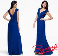 Vestidos De Festa Vestido Longo Beaded Royal Blue Long Dress Women Fromal Evening Dress Long Prom Dress Party Dress RBE008