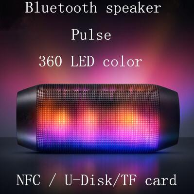 Nuovo caldo 2015impulso portatile bluetooth senza fili altoparlante supporto nfc colorato 360 led luminosi u- disck e tf card altoparlante esterno