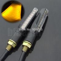 2x Motorcycle Universal Black LED Turn Signal Light Indicator Blinker Light For Honda Yamaha Kawasaki Suzuki Ktm Ducati