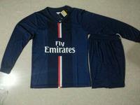 100% Top Thai 2014 Pari Long Sleeve Uniform Home Away Ibrahimovic Kit Soccer Jersey Lucas De Futbol Maillot De Foot David Luiz
