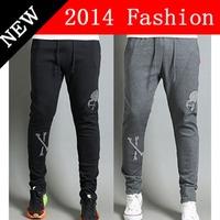 2014 NEW Autumn Fashion Men Cotton Sports Pants skinny letters print sweatpants Casual sport harem pants men's clothing 1108K
