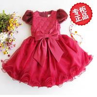 New winter princess dress baby girls birthday dresses thick quilted children dress tutu veil