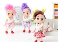 Ddung pendant doll 12pcs 10cm exquisite tennis racket dream girl cloth bag key chain wedding gift children prize wholesale