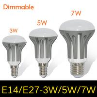 Dimmable Umbrella LED lamps bulb light E27 E14 3W 5W 7W Chandelier 2835 SMD AC 185V 220V 265V Pendant lights R39 R50 R63 10pcs