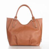 2015 New fashion simple decent  zipper style women handbag Famous Designers Brand shoulder bag leather bag