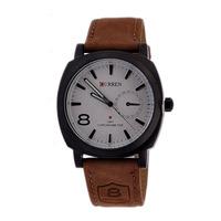 Luxury Men's Curren Watches Fashion Brand Scrub Leather Business Quality Watch Luminous Quartz Wristwatch Gift
