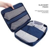 2014 New Arrival Travel Storage Bags Shirt Tie Sorting Pouch Zipper 6 Colors Organizer Bag in Bag Waterproof Nylon Collect Bag