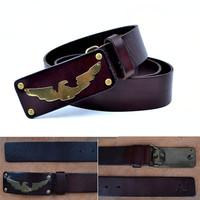 Guarantee 100% Cowhide Leather belt for men  Luxury Brand  Designe eagle buckle  Pure Leather Formal Belt/Business belt