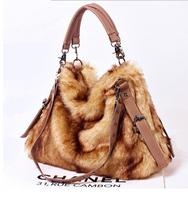 new Korean version of multi-purpose bag rabbit fur bag shoulder bag Messenger bag