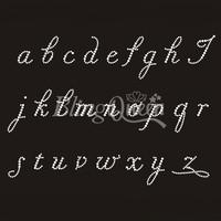 25PCS/LOT Custom Hot Fix Rhinestone Appliques Alphabet Design
