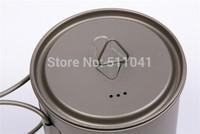 titanium single pot with lid,Pure titanium cup 750 ml (with cover)