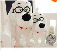 LY8551 2pcs/lot 2014 New Cute Cartoon Peabody and Sherman Dog Plush Toys Christmas Gift
