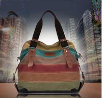 2014 Fashion New Women Vintage Retro Canvas Handbag Girls Splice Shoulder Bag School Bag