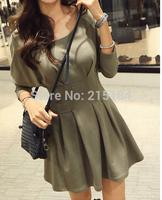 Free shipping Womens Dresses womens Dresses 2014 hot sale fashion La moda Casual Korean design