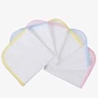 Infant Accessories Handkerchief Baby Gauze Cotton Fabric Muslin Squares Washcloth Towels Sweat Absorbing Pad