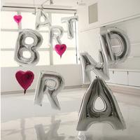 1pcs 16'' Cute Silve Alphabet Letters Helium Balloons Foil Balloon Birthday New Year xmas party Wedding Decoration Ballon
