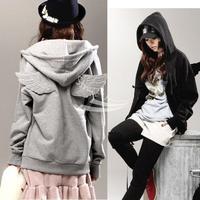 New women's Cute Angle Wings Sweatshirts Hoodies coat Jackets Warm Outerwear Coat Autumn Winter New Style free shipping 7383