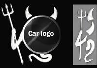 Cute 3D Devil Style Demon Sticker Car Auto Emblem Logo Paper Decoration 2014
