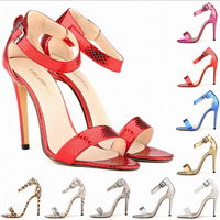 European American summer popular sandals with open-toed high heels shoes sexy brand women sandals