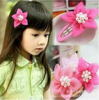 2015 Top Fashion Acessorios Para Cabelo New South Korean Girls Headdress Baby Princess Pearl Hairpin Star Headwear free Shipping