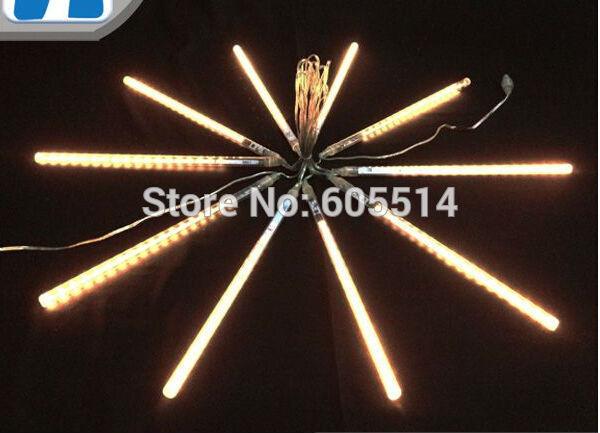 [Seven neon]10sets AC110-220V 3meters 10pcs/set 10W 30cm long 36leds/pcs 3528led smd wrm white led meteor tube light(China (Mainland))