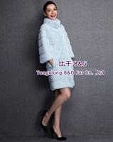 BG80200  2014 Genuine Full Pelt  Mink Fur Overcoat   Winter Ladies'  Long Clothes