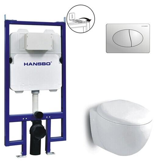 Verborgen in wand tank met muur hing toilet setconcealed stortbak met wand van het toilet - Toilet aan de muur ...