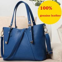 2015 fashion brand genuine leather handbag shoulder crossbody women handbags