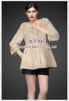BG80201  2014 Fashionable Genuine Full Pelt Mink Fur  Women's Coat