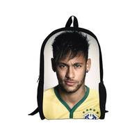 Neymar Print Characters Men Backpack 2014 World Cup Brazil High Student College School Bag Backpack Messi Football Star Backpack