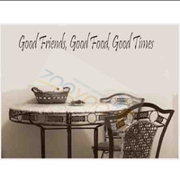 "Free shipping 8101/22 ""x3"" /Good Friend Good Time/Amazon paragraph carved wall stickers DIY room decoration creative wall decals"