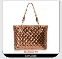 2014 women's genuine leather handbag fashion bag women's handbag one shoulder cross-body handbag plaid chain women's bags
