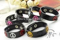Hot Fashion vintage style punk retro lovers casual leather rivet bracelet men bracelets bangle jewelry accessories randomly sent