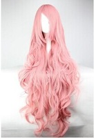 80cm Colorful Cosplay Wigs Young Long Curly Synthetic Hair Wig Blonde Wigs For Halloween Costume 11 Colors