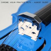 CHROME VIOLIN PRACTICE MUTE - ALMOST SILENT Metal Practice Mute for Violin & Viola
