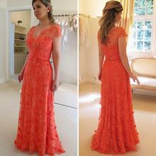 long elegant prom dresses red Evening Dress Lace Beading vestidos longos Floor-Length Gown vestido de formatura Free Shipping(China (Mainland))