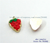 strawberry FC403 Mix Min order 10$ 20pcs zinc alloy wholesales floating charms for living locket as families friends gift