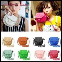 New 2014 Fashion Women PU Leather mobile phone candy color mini women messenger bag for vintage girls shoulder bag K006