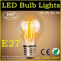 2014 The Latest Home Use Energy Saving LED Lamp E27 AC220V Filament Bulb 2W 4W 6W 8W White/Warm White Christmas Lights