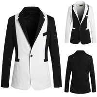 2014 Korea Style Stitching color  slim fit men suits fashion men's tops single breasted men's Blazers hot sale  PK16